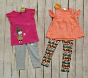 Gymboree-Crazy-8-Toddler-Girls-4-Piece-Clothing-Lot-Size-3T-Knit-Tops-Leggings