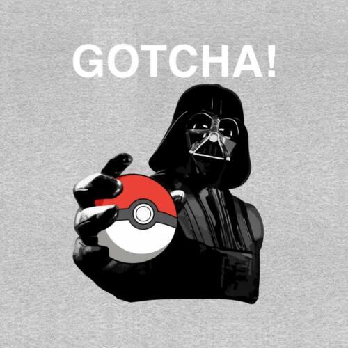 Pokemon Go Darth Vader Gotcha Star Wars White Kid/'s T-Shirt