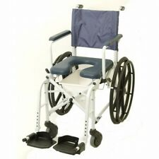 3-in-1 Shower Commode Wheelchair Bedside Toilet & Rolling Chair