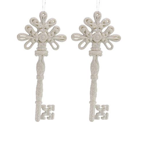Arbre de Noël Décoration-Pack de 2 Paillettes Keys 16 cm-Choisir Couleur