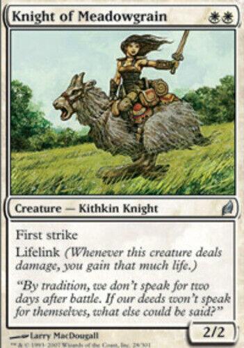 English Lorwyn MTG Magic 1x Knight of Meadowgrain Light Play
