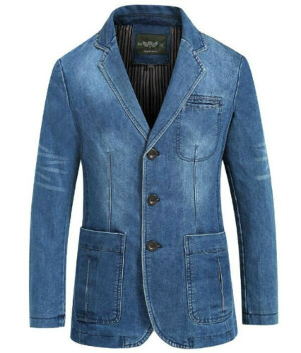 Men/'s Blazers Suit Jeans Jackets denim suits jacket Casual tops outwear Coats