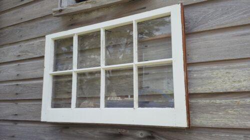 VINTAGE SASH ANTIQUE WOOD WINDOW  FRAME PINTEREST RUSTIC 36x24 8 PANE