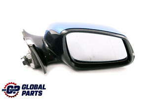 BMW 1 2 Series F21 F22 Right Wing Mirror O/S High Gloss Estorilblau Blue B45