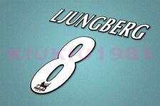 Arsenal Ljungberg #8 PREMIER LEAGUE 97-06 White Name/Number Set