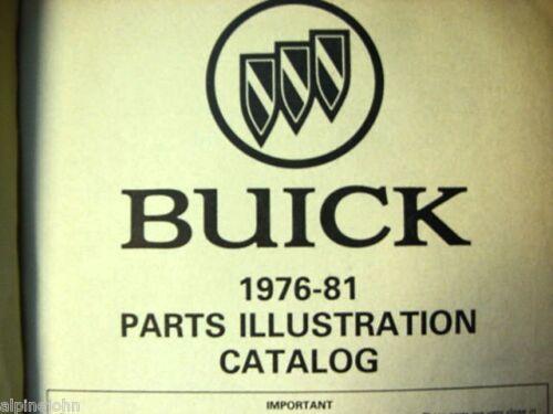 BUICK 1976-1981  Parts Illustration Catalog Original