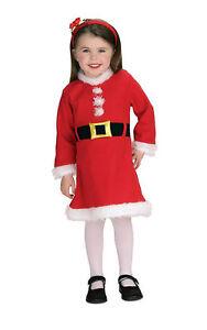 Santa Girl Mrs Claus Elf Christmas Dress Up Infant Baby Toddler