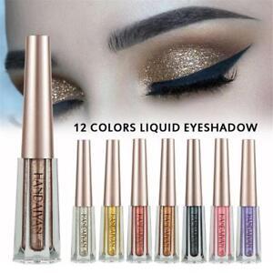 Sombra-de-ojos-liquido-Impermeable-De-Larga-Duracion-Brillo-Brillo-Metalico-Sombra-de-ojos