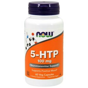 NOW Supplements 5-HTP 100 mg - 60 Veg Capsules