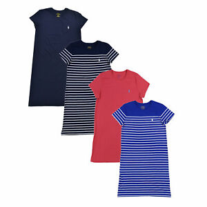 82a135564b Details about Polo Ralph Lauren Womens T Shirt Dress Jersey Knee Length  Lightweight Crew Neck