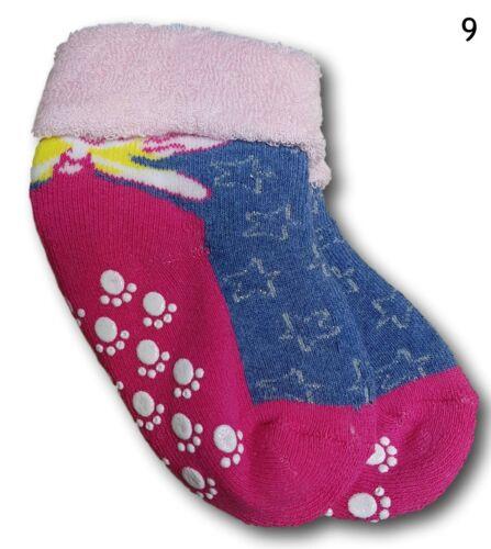 Bebé Niñas Niño ABS antideslizante Terry Algodón Calcetines Tamaño 9-24 meses de invierno