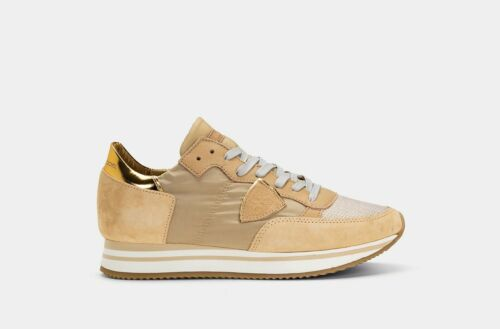 ULTIME PAIA 50/% SCARPA  DONNA BEIGE PHILIPPE MODEL ORO THLD XM14 SS19
