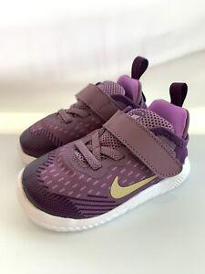 Kids-Nike-Free-Run-2018-TDV-Violet-Dust-MTLC-Gold-Star-Size-8C