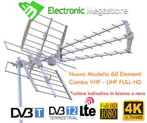 Zodiac ZTL-233-05UV Antenna DTT LTE Free, Argento COMBINATA UHF/VHF MULTIBANDA