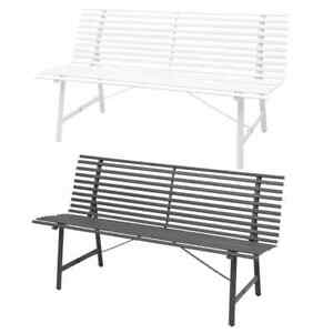 Remarkable Details About Vidaxl Garden Bench Steel Outdoor Park Seat Chair Furniture Anthracite White Ibusinesslaw Wood Chair Design Ideas Ibusinesslaworg