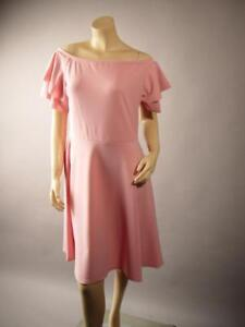Pastel-Pink-Off-The-Shoulder-Fit-and-Flare-Skater-Party-254-mv-Dress-1XL-2XL-3XL