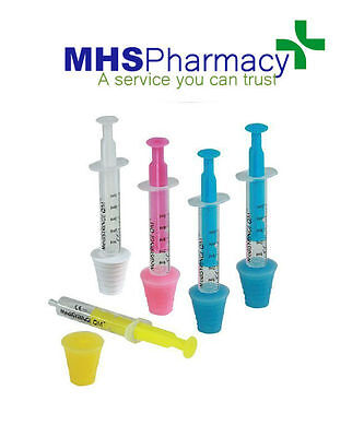 Oral Syringe 5ml + Rubber Adaptor (1ml Graduations) 5 in pack