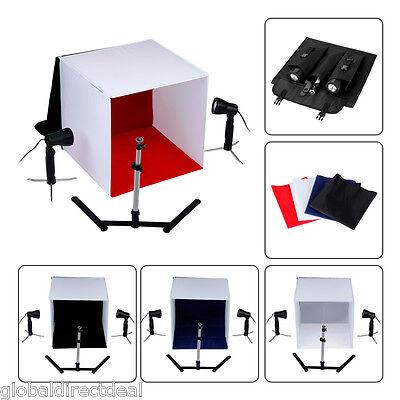 Mini Cubo Soporte fotografía estudio Set Kit de Ventana Caja Soporte Luz Flash