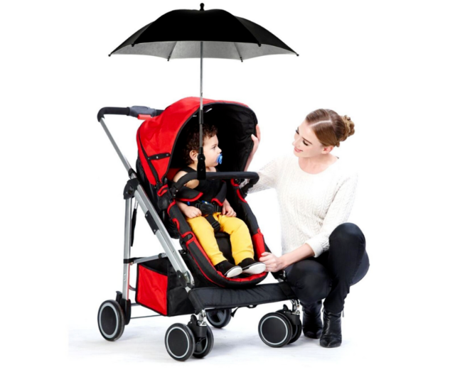 Baby Parasol Compatible with Kiddy Urban Star Red