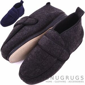 870d3e3f3e51 Image is loading Mens-Orthopaedic-EEE-Wide-Fit-Adjustable-Slipper-Boot-