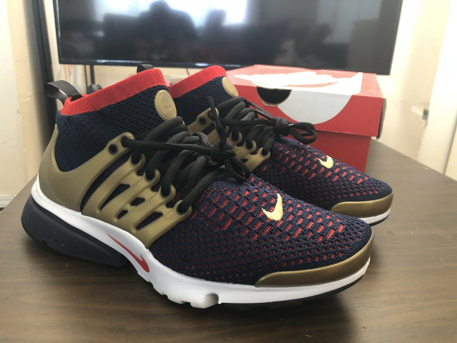 Nike Air Presto Flyknit Ultra USA Olympic Navy/Gold/Red Comfortable