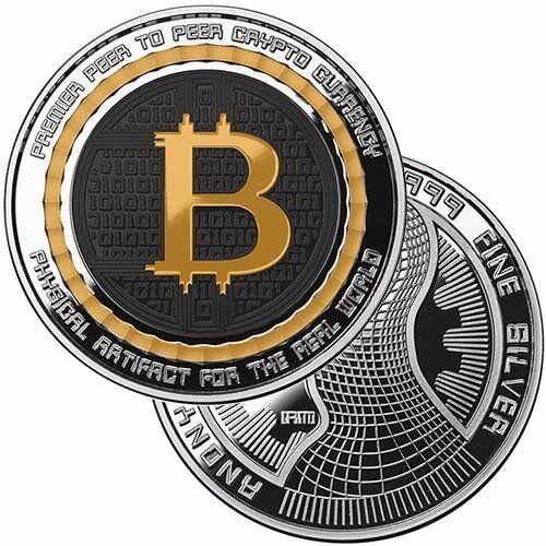 Bitcoin Guardian Commemorative 1 oz Silver Colorized Proof Round w//CoA