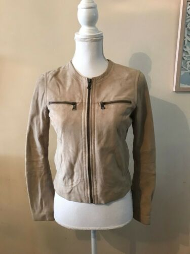 Pelle Republic Jacket Suede Soft Zipper Leather Monogram Leather Br Banana FFwHxr7