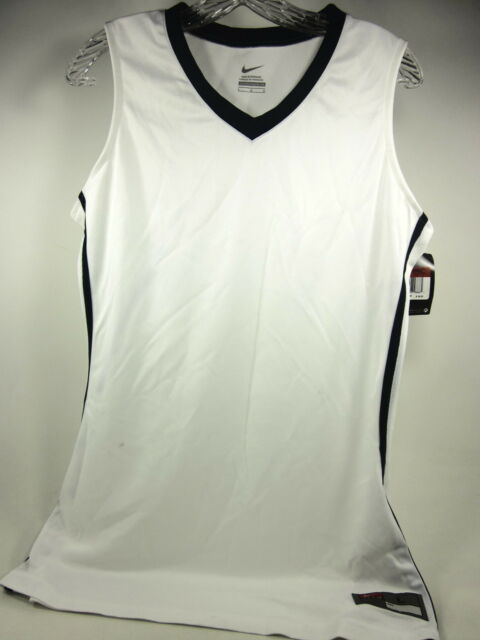 competitive price 4c38a 98c39 Nike Team Front Court Sleeveless Jersey Womens Size Large White Navy 509171