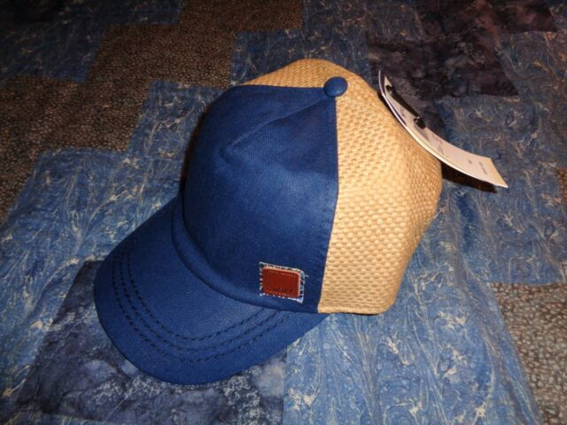 09713547ab66a Brand New Roxy Women s Straw Back Incognito Adjustable Baseball Cap Hat Blue