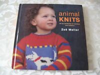 Animal Knits Zoe Mellor Knitting Patterns Kid Sweater Slippers Bunny Toy Blanket