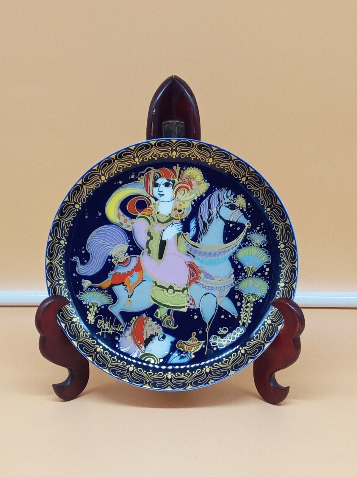 Image 1 - Rosenthal-Studio-Linie-Collection-Programme-Collection-Plate-Aladin-Bjorn-Wiinblad-16cm