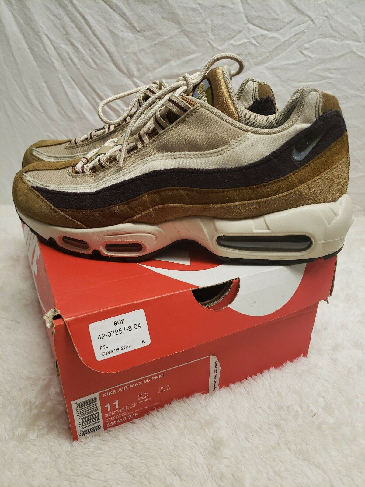the latest dc772 12322 Nike air max 95 premium desert size 11 11 11 538416 205 PRM ...