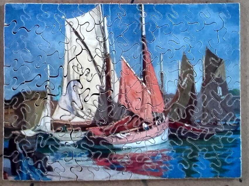 Puzzle bois découpé main FRANCE PUZZLE PARIS COMPLET 150 pièces ancien