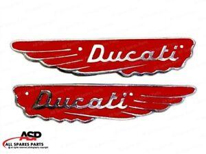 Hi QualityDucati Scrambler Petrol Gas Fuel Tank Badge Motif Emblem Set Alloy red