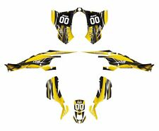 CAN AM DS 450 graphics sticker kit 3333 Yellow Free Custom Service