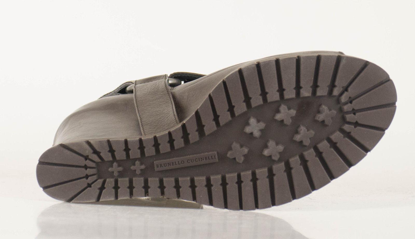 New BRUNELLO CUCINELLI braun Leather Wedge Stiefelies Stiefel schuhe schuhe schuhe 38.5 8.5  2115 12bd25