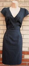 ET VOUS GREY TAILORED FORMAL WORK TUBE PENCIL WORK BODYCON RARE DRESS 12 M
