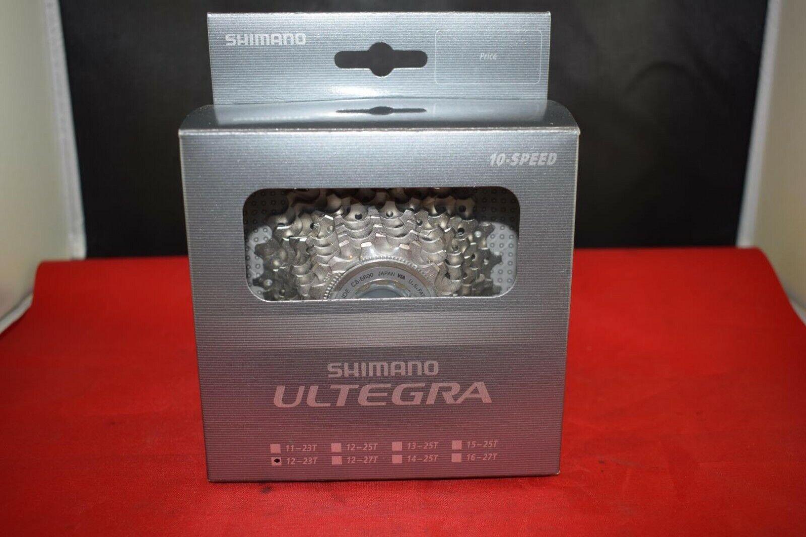 Shiuomoo Cassetta CS6600 Ultegra 10 velocità 1223 Denti argentoo Nuovo Con Scatola