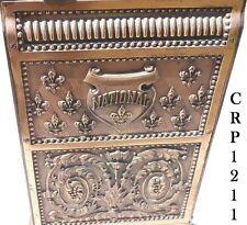 OLD Sm RARE Mdl. No.  216 / 211 Brass National Candy Cash Register Cabinet BACK