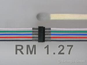 Mini-Stecker-set-5-polig-RM-1-27-Litze-Steckverbinder-connector-litz-wire