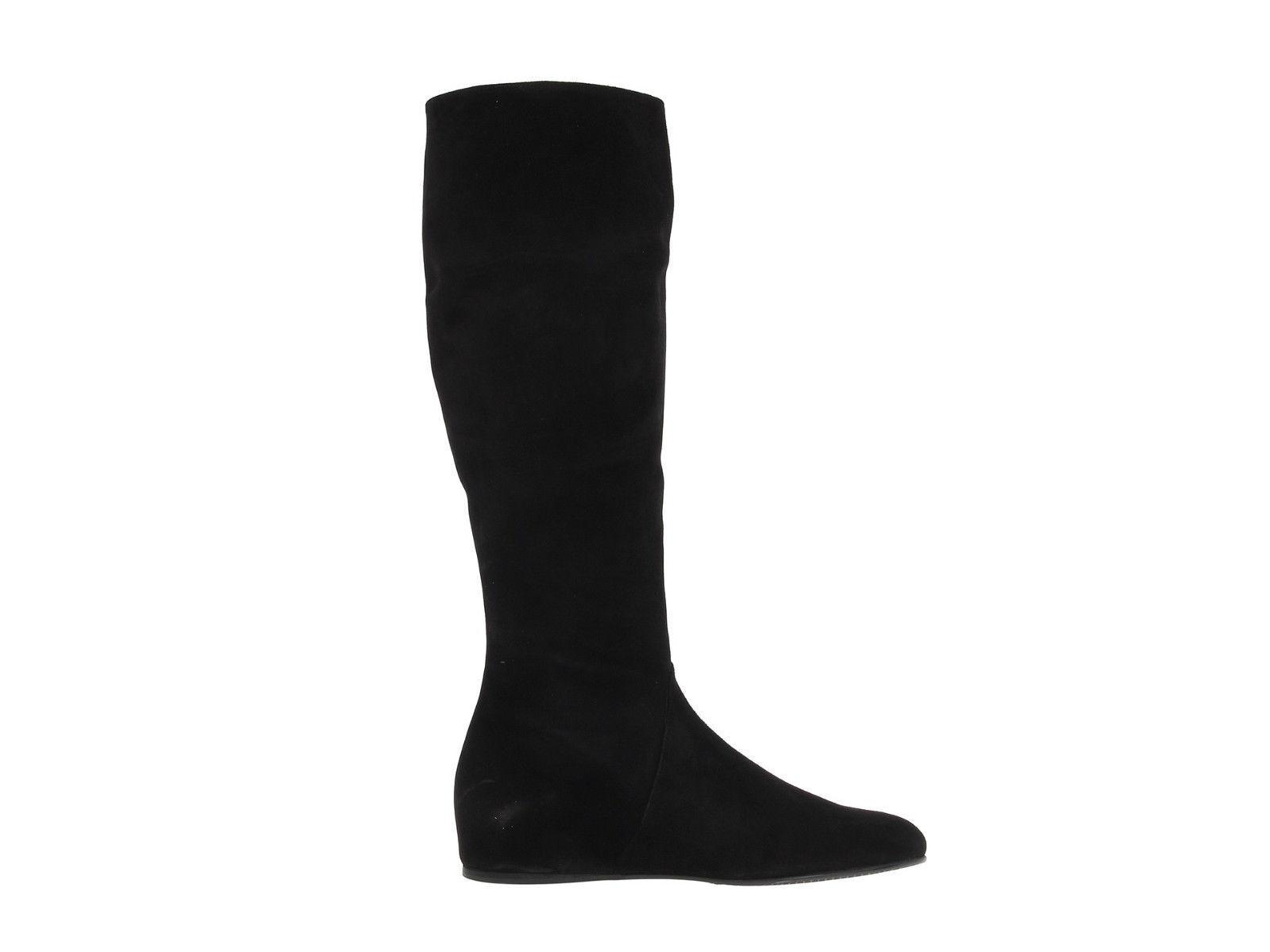Nuevo  Tass 695+ Stuart Weitzman Tass  Negro Gamuza Cuña Oculta rodilla alta botas talla 5 M 695b6a