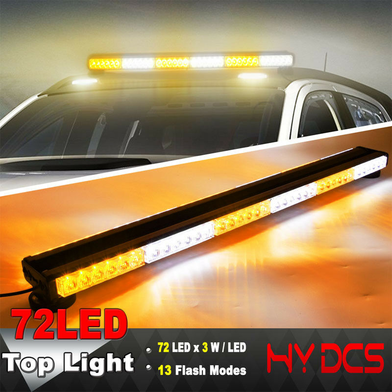 """47/"""" 96LED 288W Emergency Hazard Warning Double Side Strobe Light Bar Top Roof"""