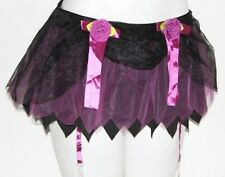 XS Lolita Gothic Goth Burlesque Emo Cosplay CRINOLINE Garter Ultra MINI SKIRT