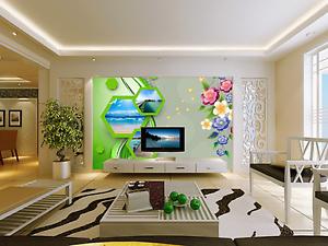 3D Green Frame Bule Sea 54 Paper Wall Print Wall Decal Wall Deco Indoor Murals
