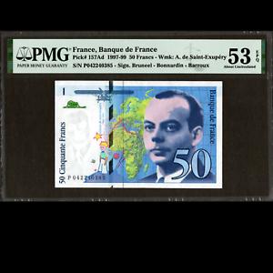 Banque de France 50 Francs 1997 PMG 53 About UNCIRCULATED EPQ P-157Ad