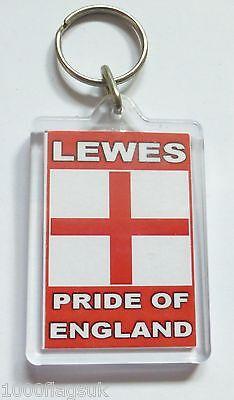 Lewes Pride of England Acrylic Key Ring Keyring *