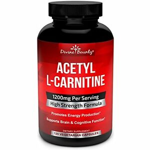 Acetyl-L-Carnitine-1200mg-Supplement-Weight-Loss-Fat-Burner-120-Veg-Capsules