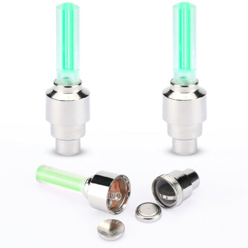 4//8 Pcs Valve Stem LED CAP for Bike Bicycle Car Motorcycle Wheel Tire Light lamp