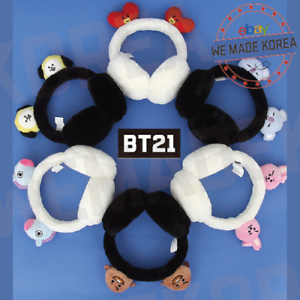 BT21-Character-Winter-Earmuff-Black-amp-White-amp-7types-Official-K-POP-Authentic-MD