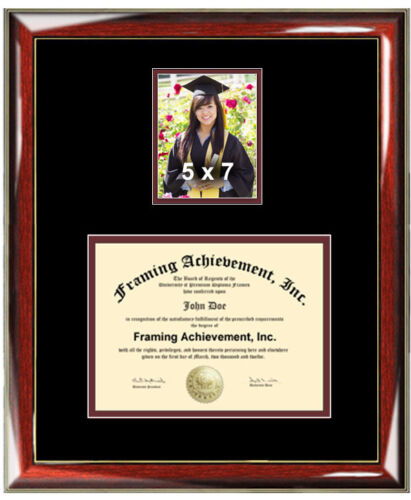 College Diploma Frame 5x7 Portrait Graduate Picture University Degree Frame